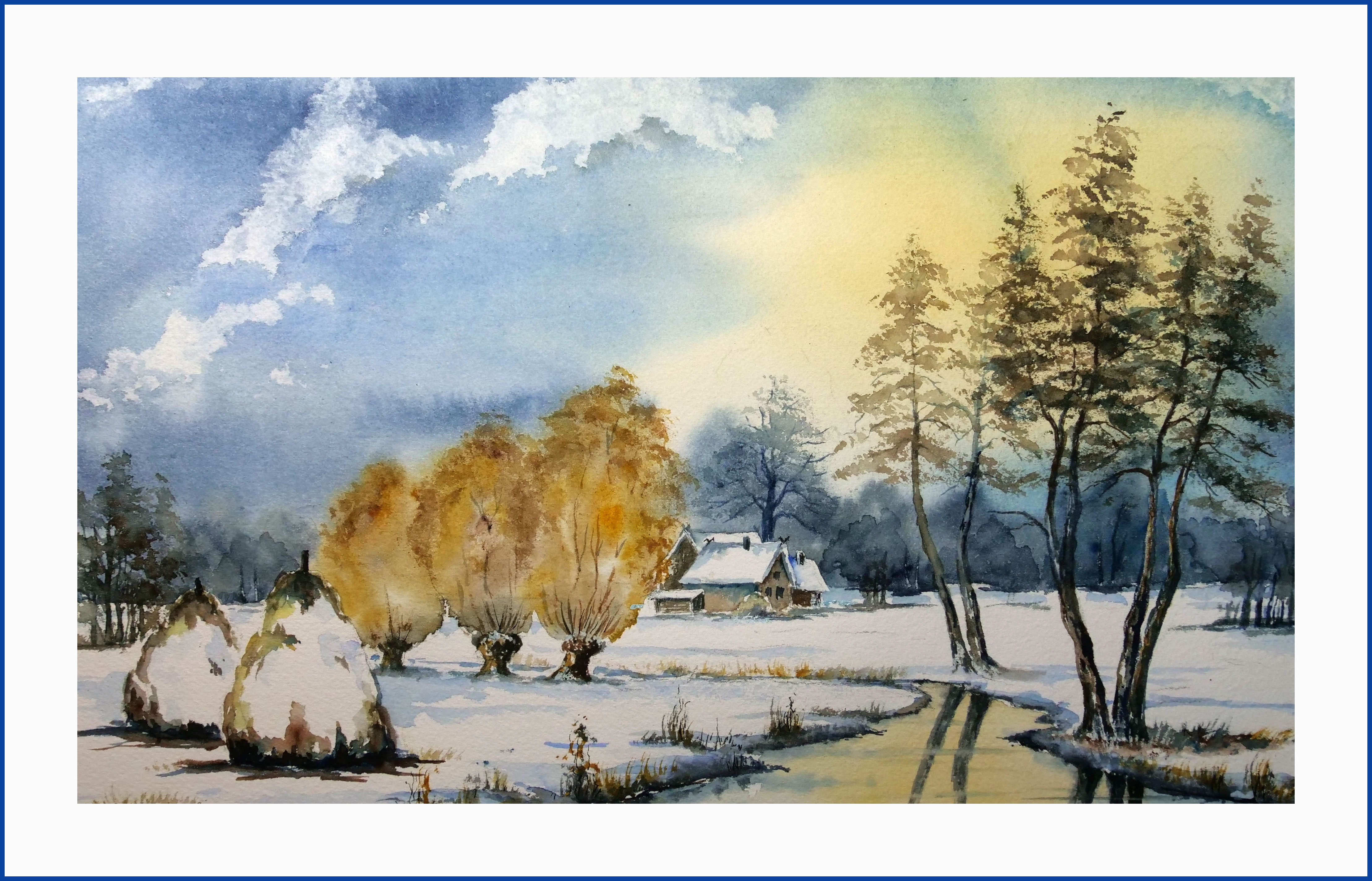 Winter im Spreewald- 40 x50 cm, (Nr.257)