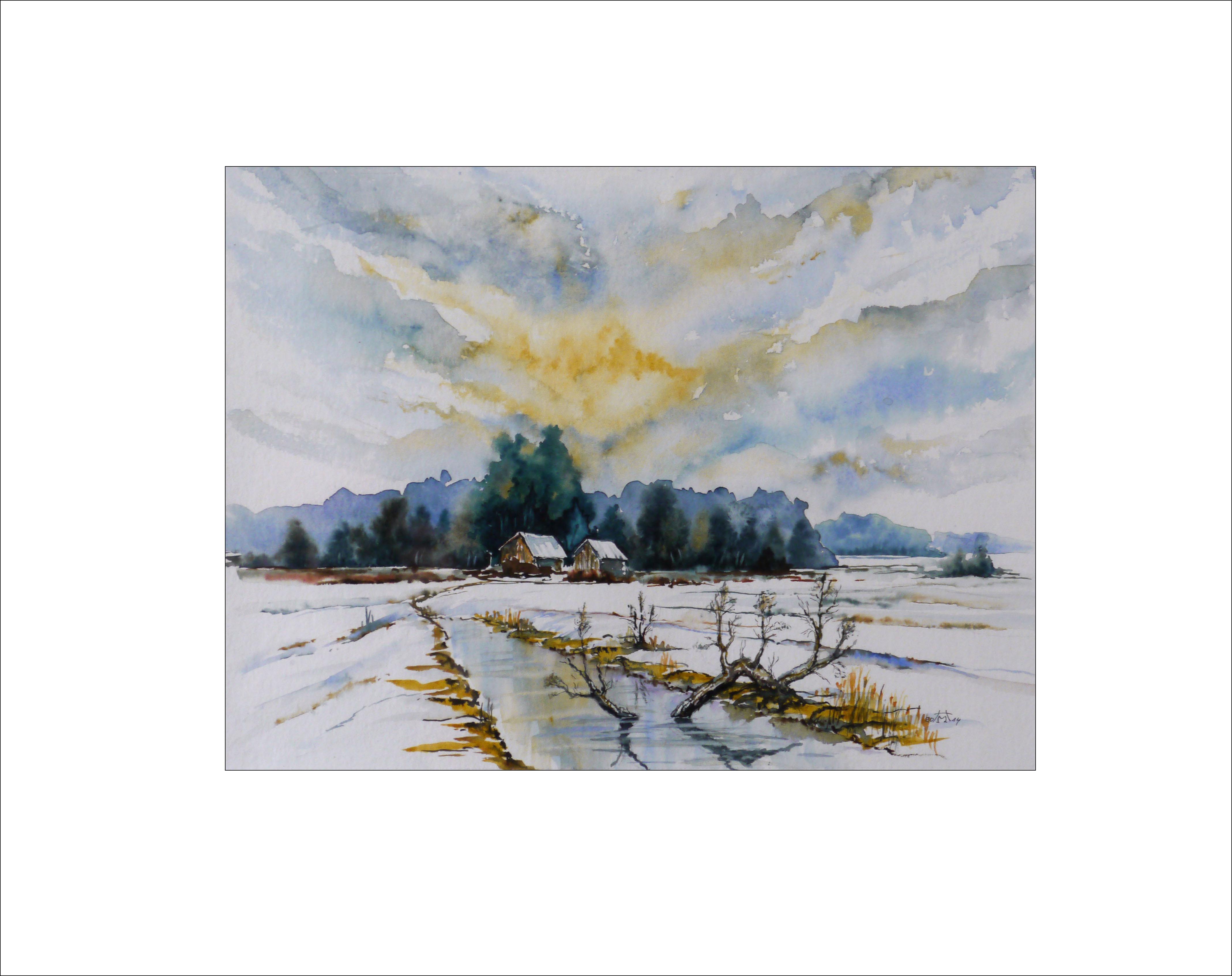 Spreewald im Winter(2) – 40 x 50 cm (Nr. 5)