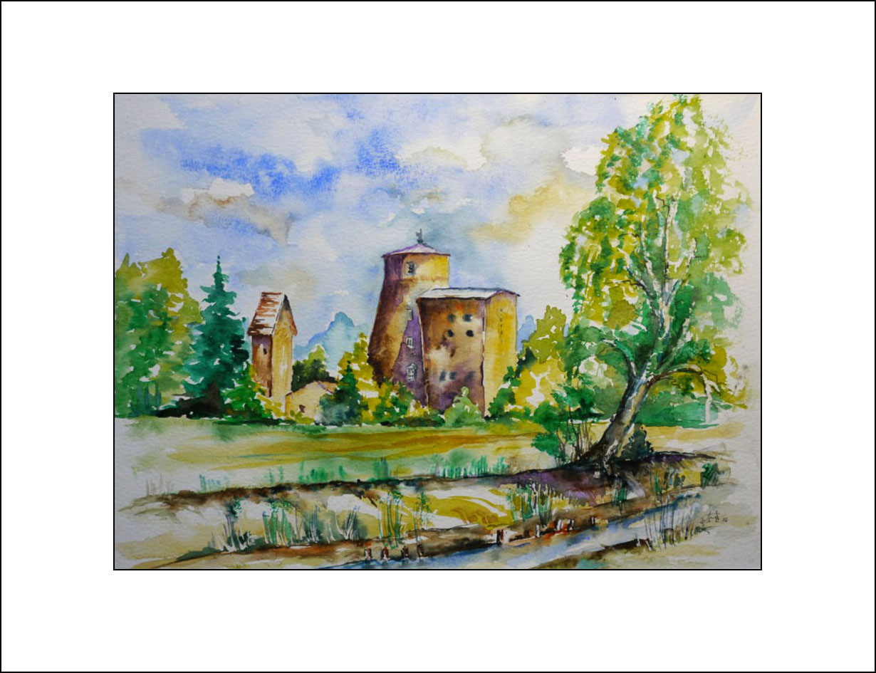 Turnower Mühle 40 x 50 cm  (Nr. 75)