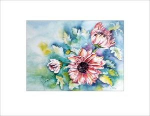 Chrysanthemen – 40 x 50 cm (Nr. 51)