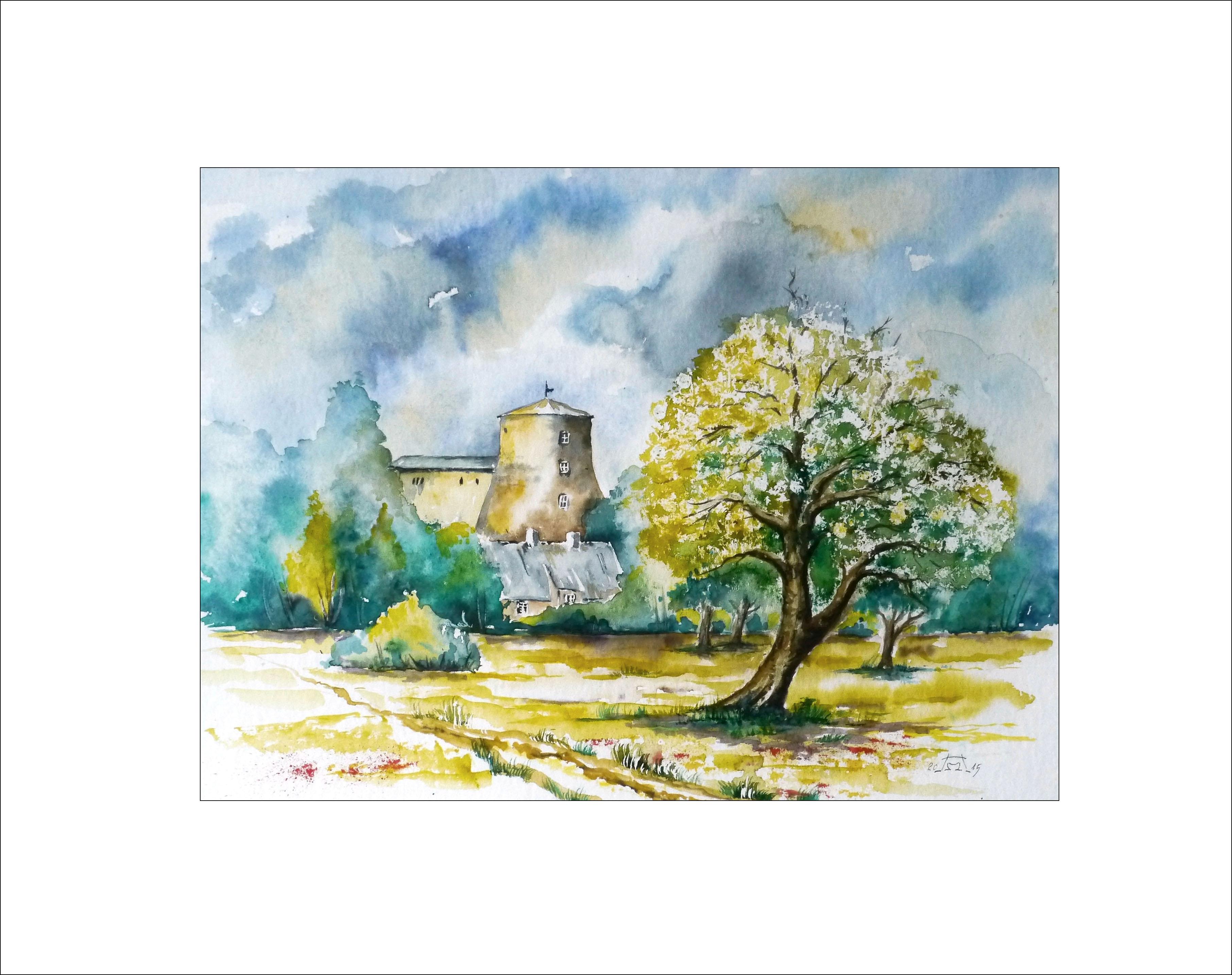 Frühling an der Mühle in Turnow – 40 x 50 cm (Nr.41)