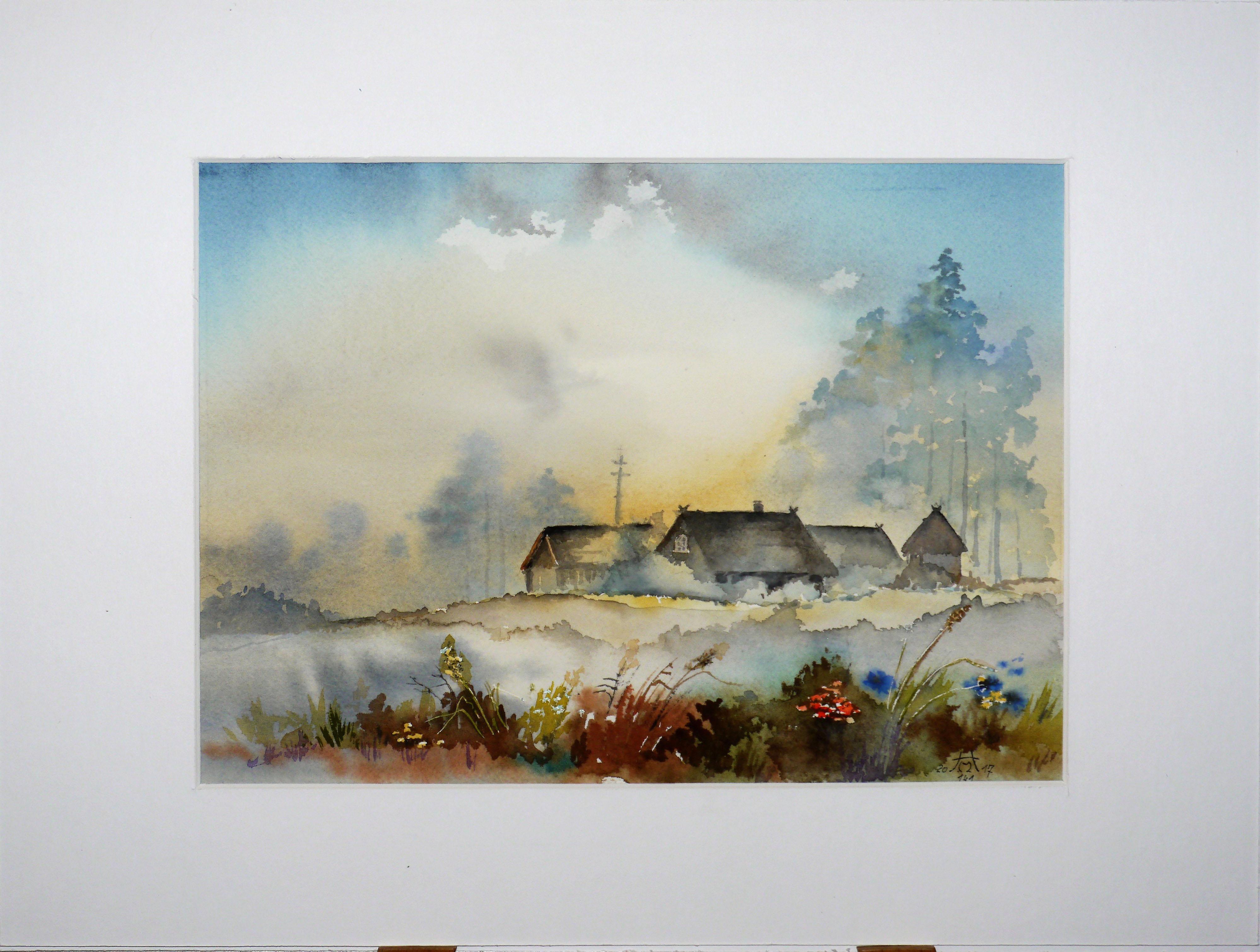 Sommermorgen im Spreewald -40 x 50 cm (Nr. 141)