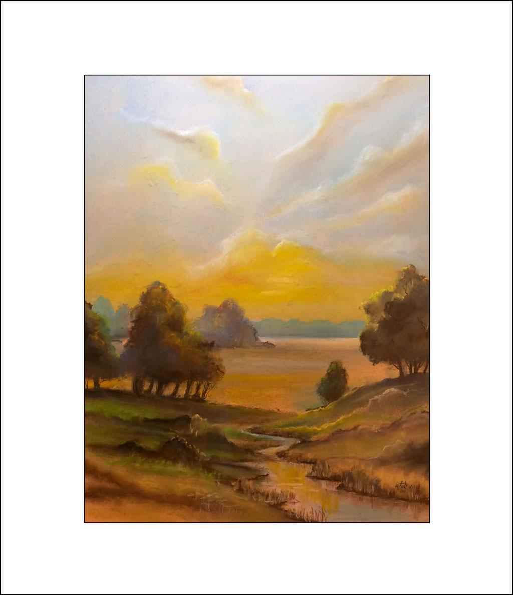 2018 Nr. 240 Auenlandschaft – 50 x 70 cm (Nr. 240)