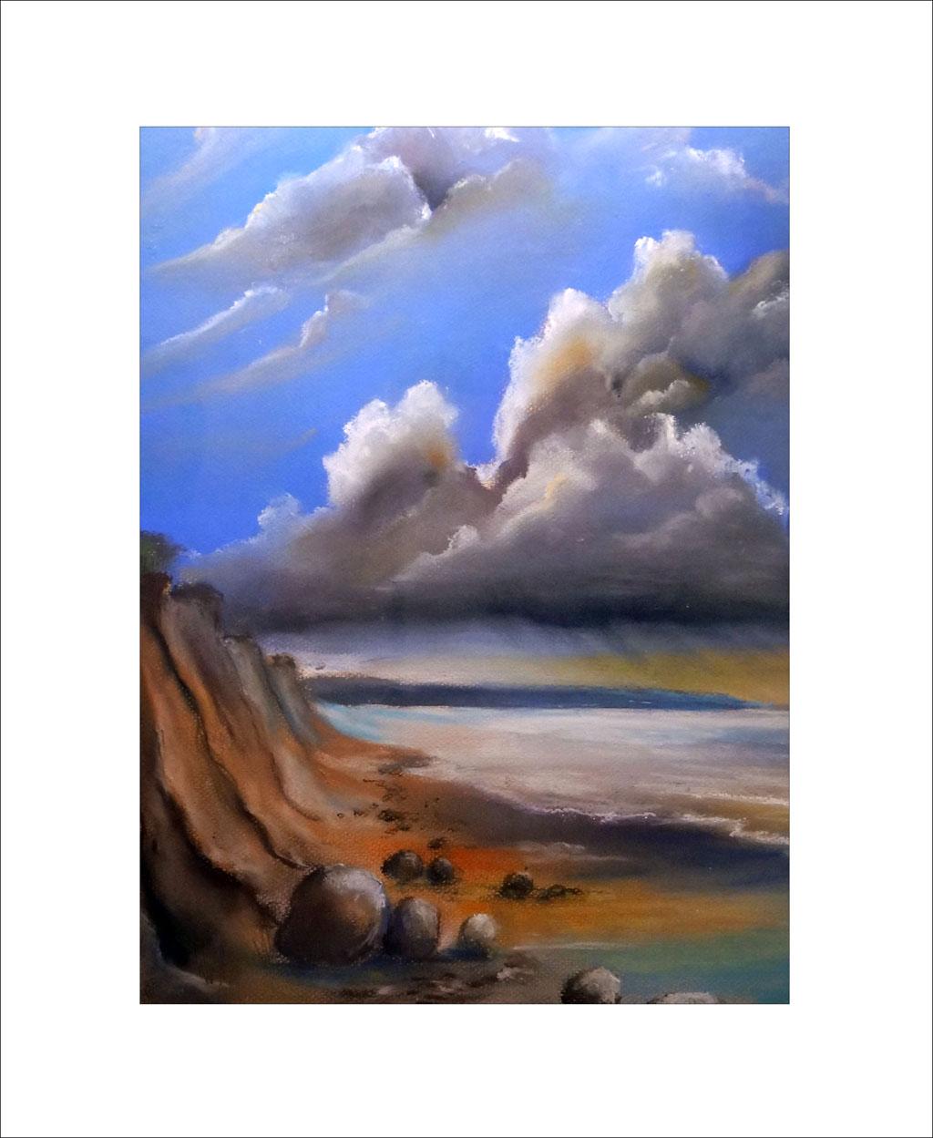 Gewitterstimmung an der Ostseeküste – 50 x 70 cm ( Nr. 247)