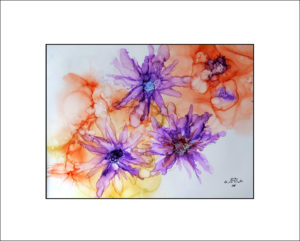 2020 Nr. 346 Blüten abstrakt (Alcohol Ink)