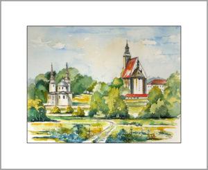 Klosteranlage in Neuzelle, 40×50 cm ,Nr. 353
