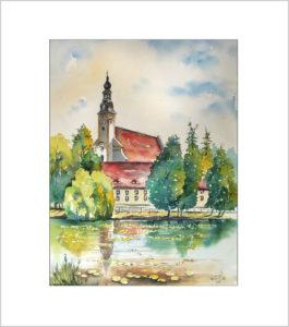 Klosterkirche in Neuzelle,40×50 cm,  Nr. 354