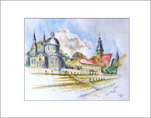 Kloster in Neuzelle ,40×50 cm, Nr.355