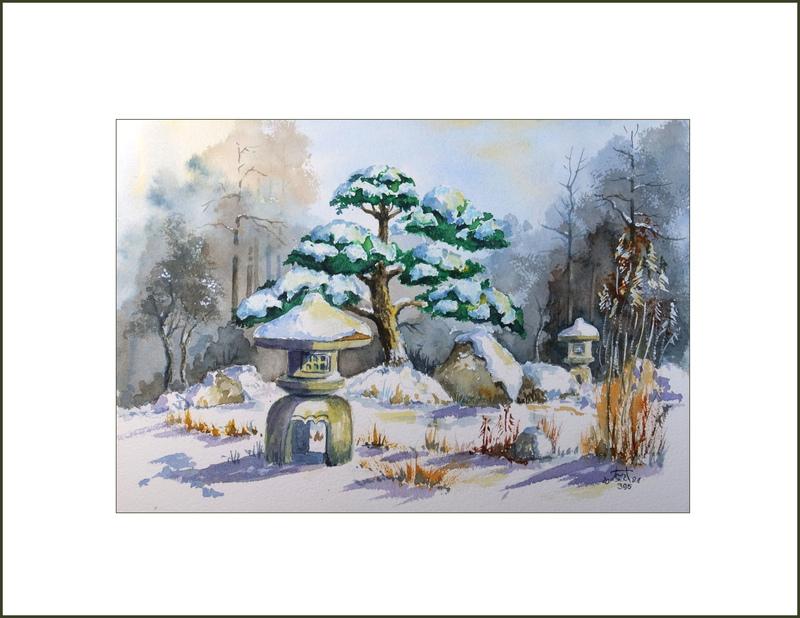 2021 Nr. 395. Winter im Koi – Garten Burg (1)