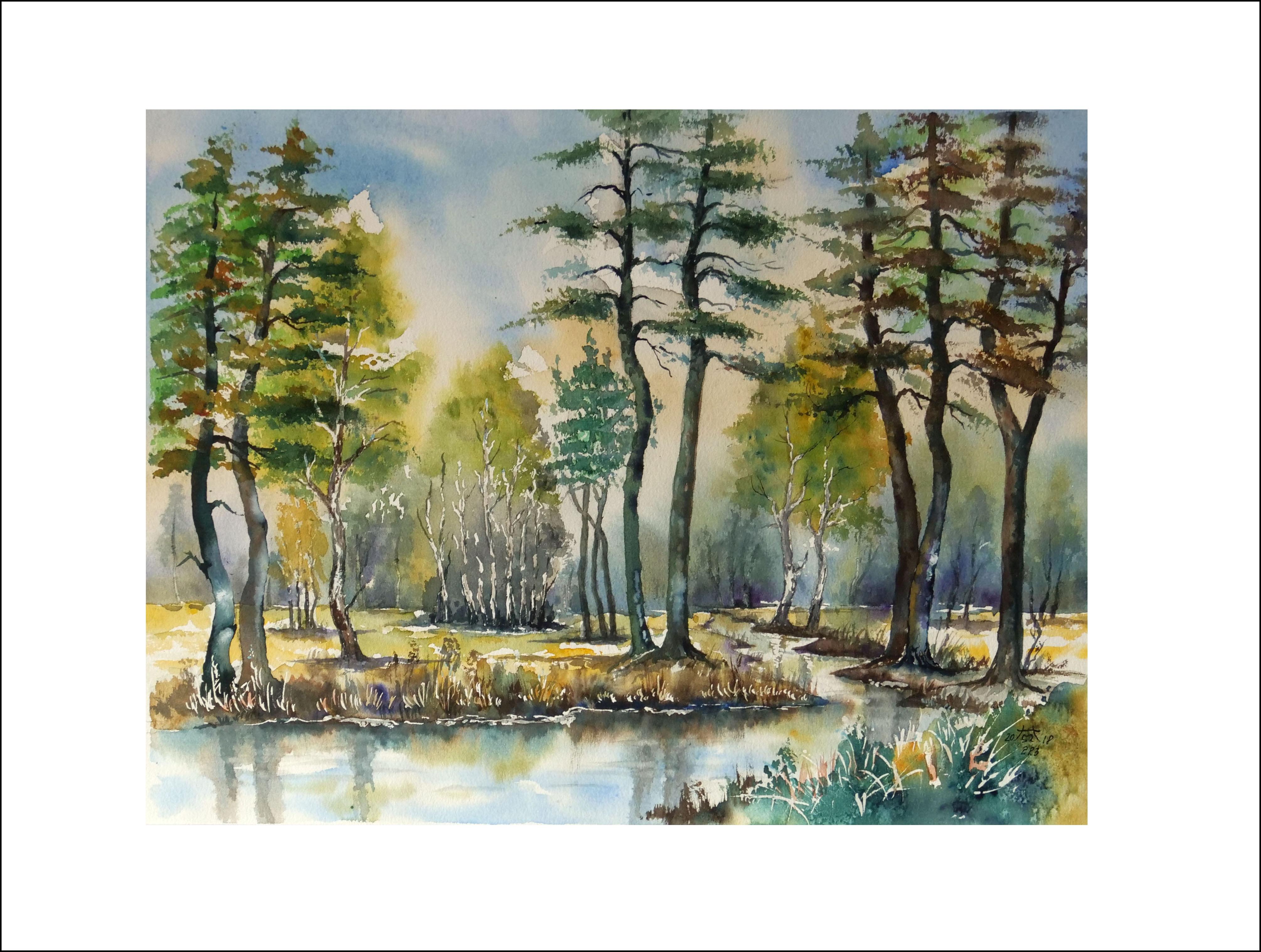 Frühlingserwachen im Spreewald- 40 x50 cm (Nr.223)
