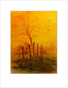 Novembertag – Aquarell – 40 x 50cm ,( Nr. 193)