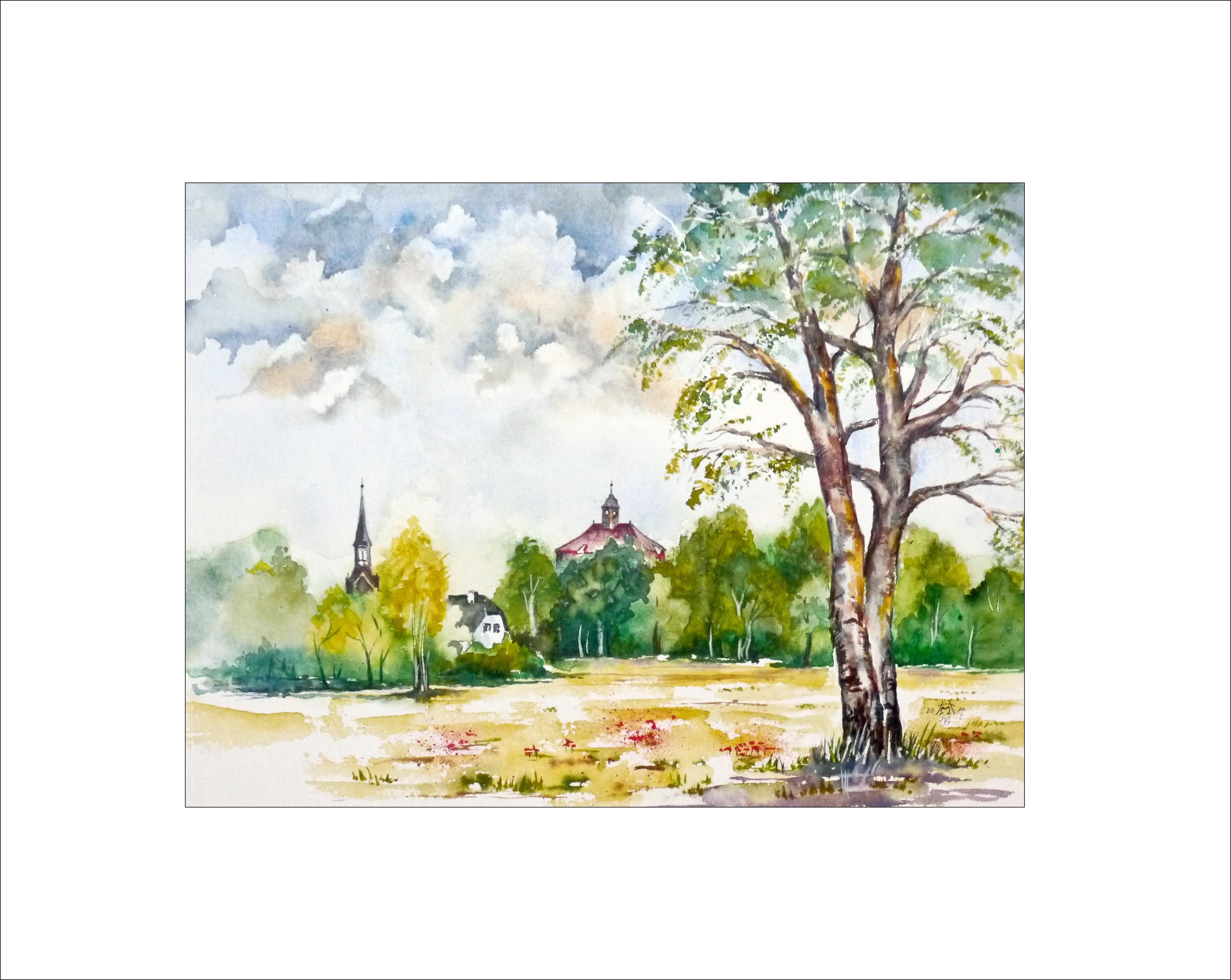 Sommer in Peitz – 40 x 50 cm (Nr. 176)