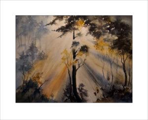 Sonne im Wald – 40 x50cm,( Nr. 185)