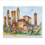 San Gimignano in der Toskana – 40 x50 cm (Nr. 23 )