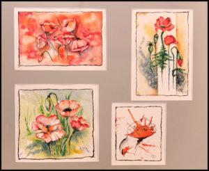 Mohnblüten Variation (1) – 40×50 cm (Nr. 263)