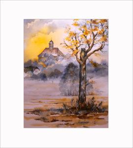 Herbstmorgen in den Peitzer Wiesen – 40 x50 cm (Nr. 237)