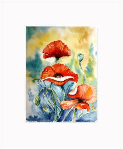Mohnblumen (2) – 40 x 50 cm (Nr. 17)