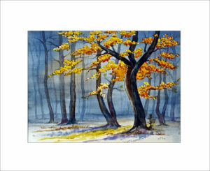 Sonnentag im Herbstwald -40 x 50 cm (Nr.95)