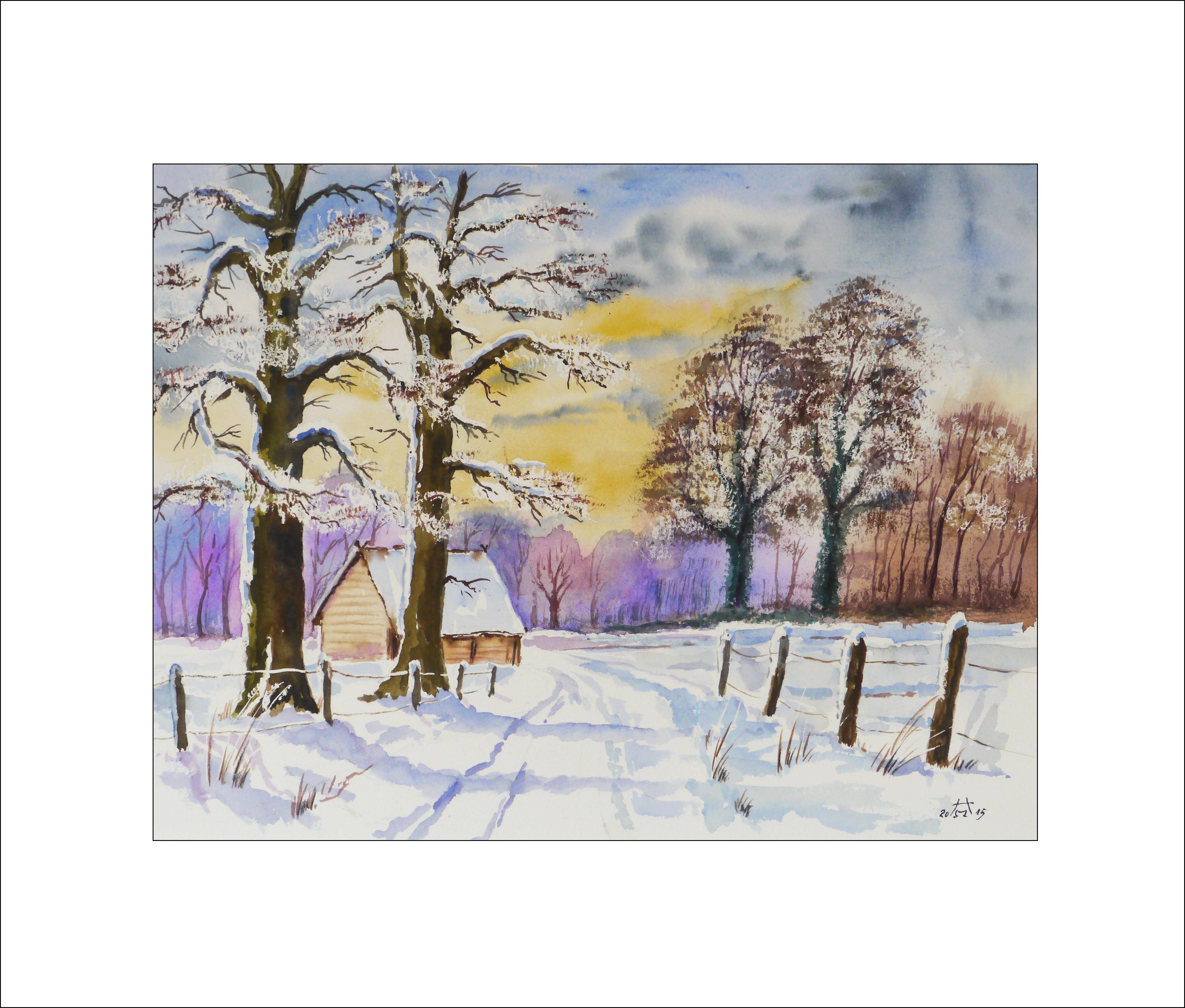 Spreewald im Winter – 40 x 50 cm (Nr. 3)