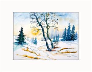 Winterlandschaft – 40 x 50 cm (Nr. 133)