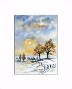 Wintertag – 30 x 40 cm (Nr. 172)
