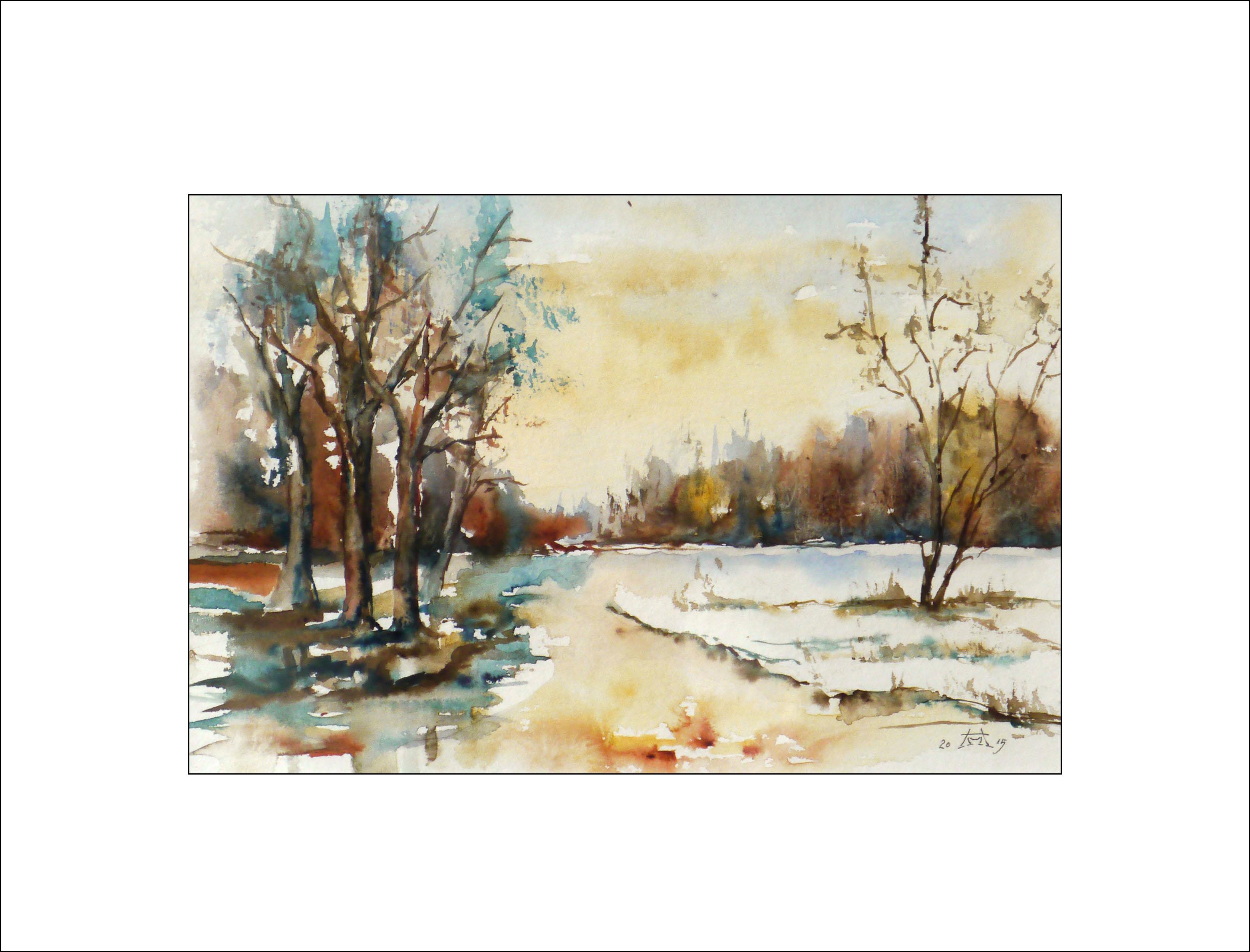 Wintertag in der Heide – 40 x 50 cm (Nr. 49)