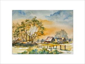 Sommerabend im Spreewald – 40 x50 cm (Nr. 277)