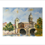 Am Tiber in Rom 40 x 50 cm  Nr. 287