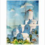 Impressionen auf Santorin 40 x50 cm  Nr. 289