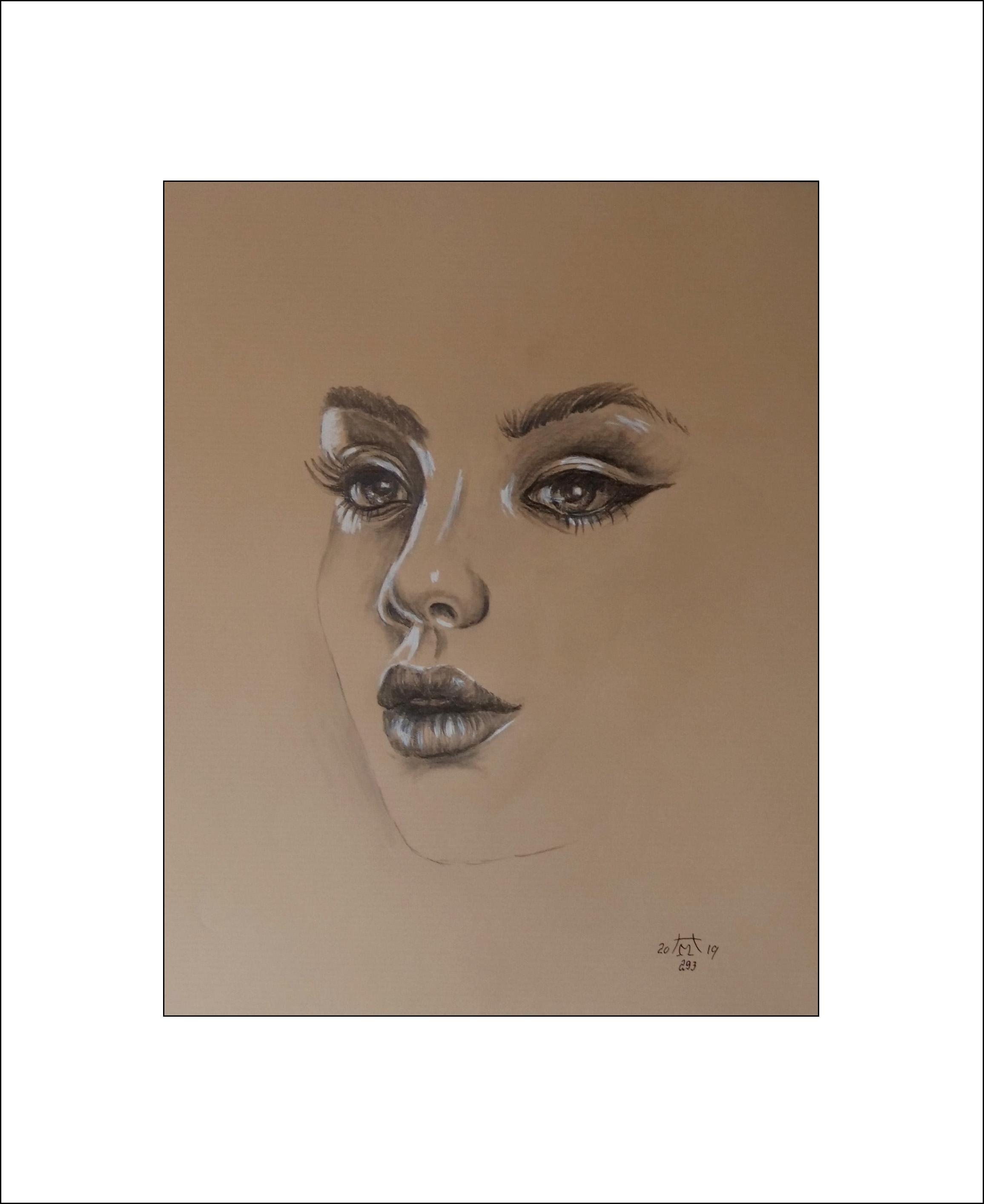 """Sinnlichkeit"""" 40 x 50 cm Nr. 293 Bleistift / Pastell"""